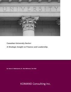 University Strategy Paper